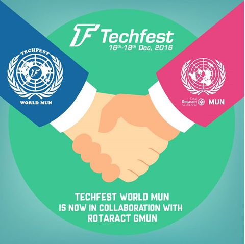 Techfest World MUN partnership with Rotaract Global ModelUN