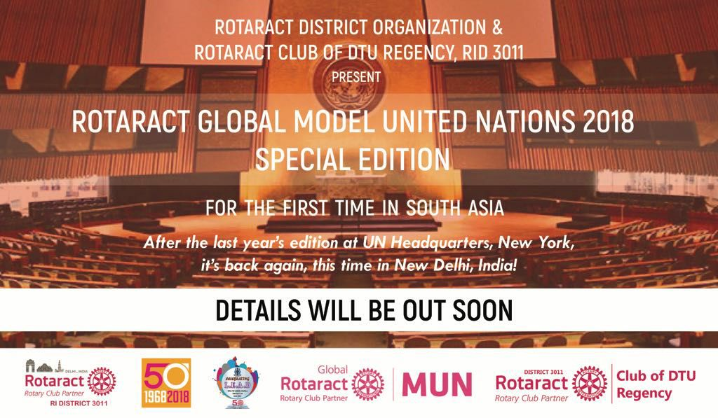 ModelUN Special Edition in April 2018 organized by RAC Delhi Technological University