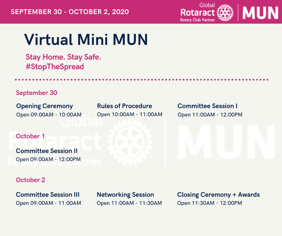 Our program for the Virtual mini MUN!